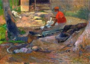 Paul Gauguin - A Little Washerwoman