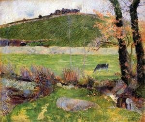 Paul Gauguin - A Meadow On The Banks Of The Aven