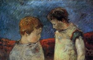 Paul Gauguin - Aline Gauguin And One Of Her Brothers