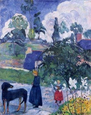 Paul Gauguin - Among The Lillies