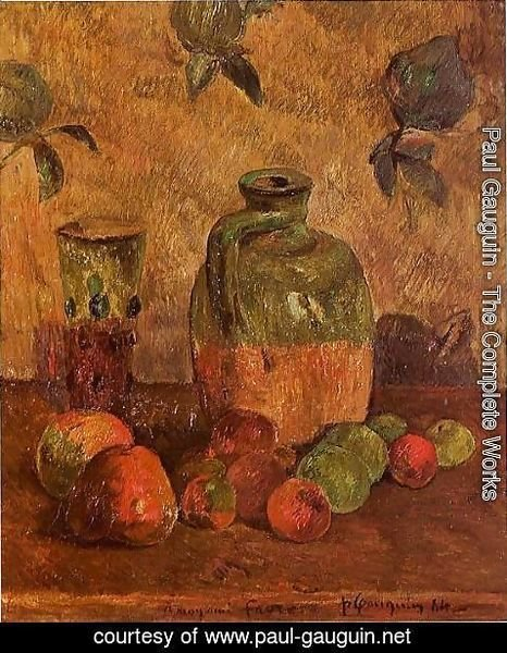 Paul Gauguin - Apples  Jug  Iridescent Glass