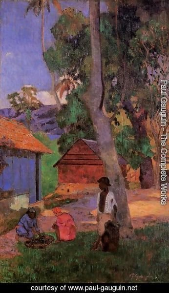 Paul Gauguin - Around The Huts