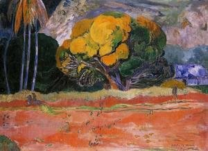 Paul Gauguin - At The Foot Of The Mountain