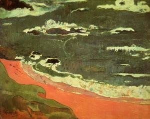 Paul Gauguin - Beach At Le Pouldu