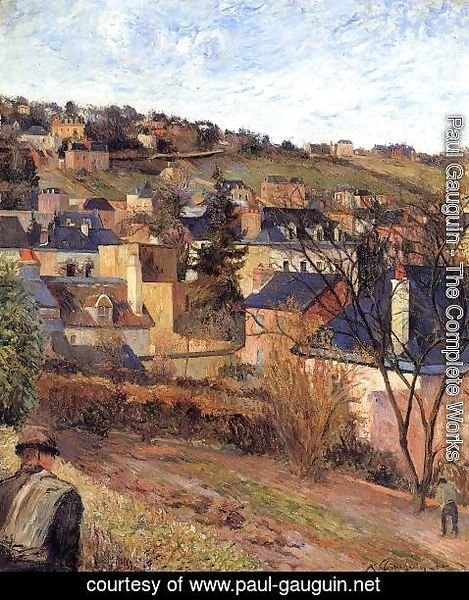 Paul Gauguin - Blue Roofs  Rouen