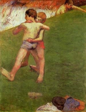 Paul Gauguin - Breton Boys Wrestling