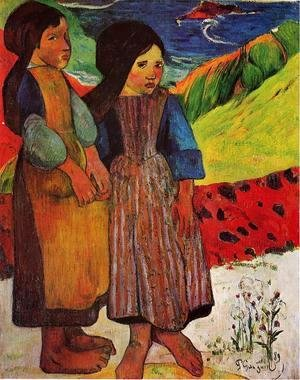 Paul Gauguin - Breton Girls By The Sea