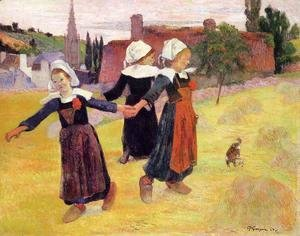 Breton Girls Dancing Aka Dancing A Round In The Haystacks