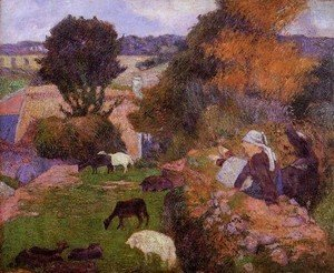 Paul Gauguin - Breton Shepherdess