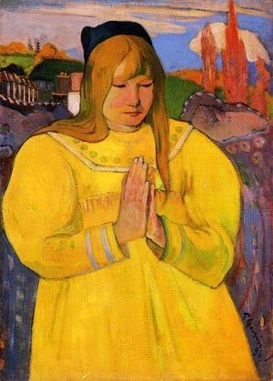 Paul Gauguin - Breton Woman In Prayer