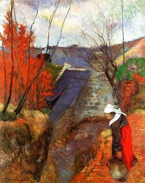 Paul Gauguin - Breton Woman With Pitcher