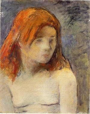 Paul Gauguin - Bust Of A Nude Girl
