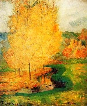 Paul Gauguin - By The Stream  Autumn