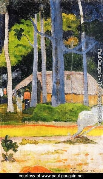 Paul Gauguin - Cabin Under The Trees