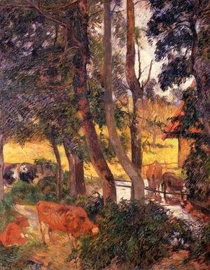 Paul Gauguin - Cattle Drinking Aka Edge Of The Pond