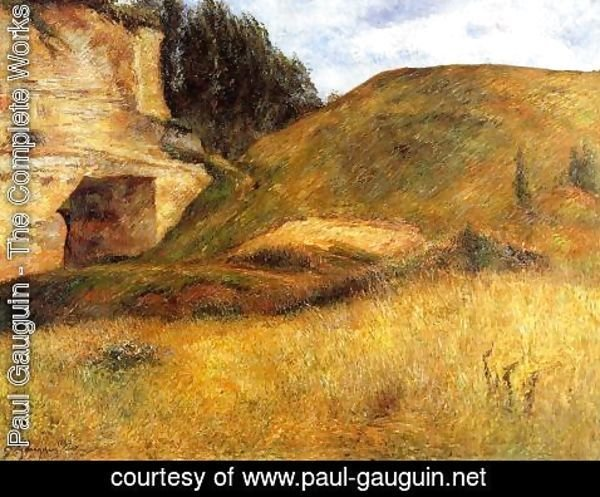 Paul Gauguin - Chou Quarry  Hole In The Cliff
