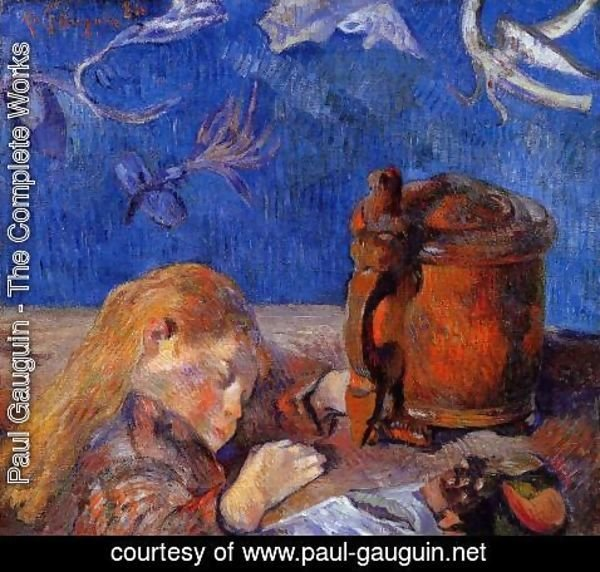 Paul Gauguin - Clovis Gauguin Asleep