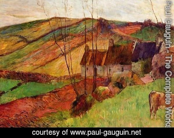 Paul Gauguin - Cottages On Mount Sainte Marguerite