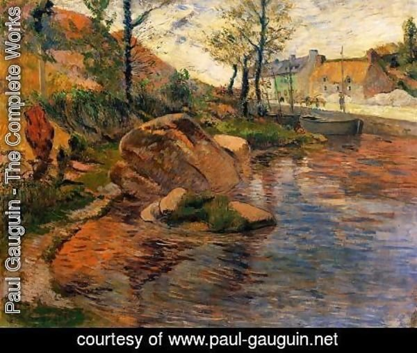 Paul Gauguin - Cove Opposite Pont Aven Harbor
