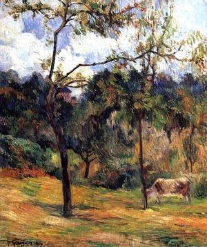 Paul Gauguin - Cow In A Meadow  Rouen