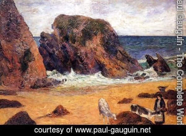 Paul Gauguin - Cows By The Sea