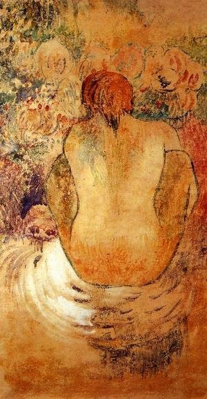 Paul Gauguin - Crouching Marquesan Woman See From The Back