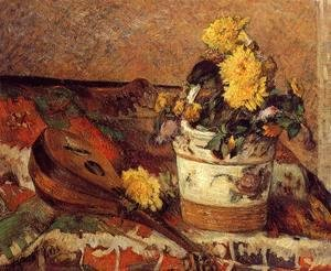 Paul Gauguin - Dahlias And Mandolin