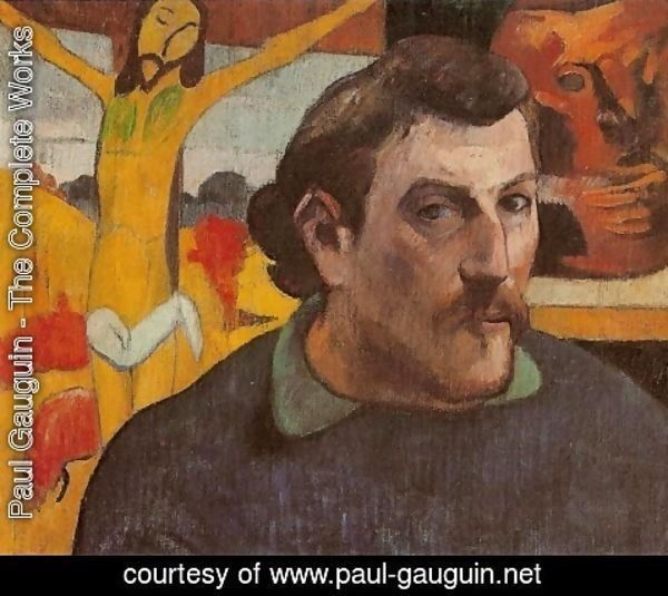 Paul Gauguin - Self Portrait With Yellow Christ