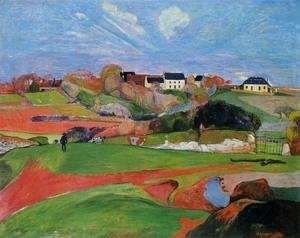 Paul Gauguin - Fields At Le Pouldu