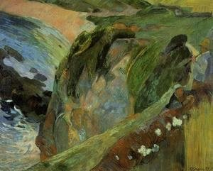Paul Gauguin - Flutist On The Cliffs