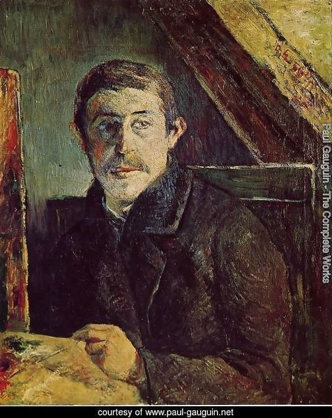 Gauguin At His Easel