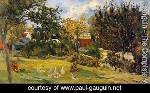 Paul Gauguin - Geese In The Meadow