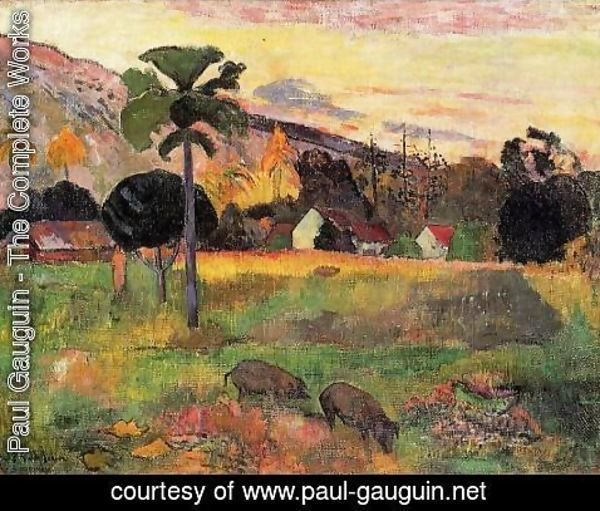 Paul Gauguin - Haere Mai Venezi Aka Come Here