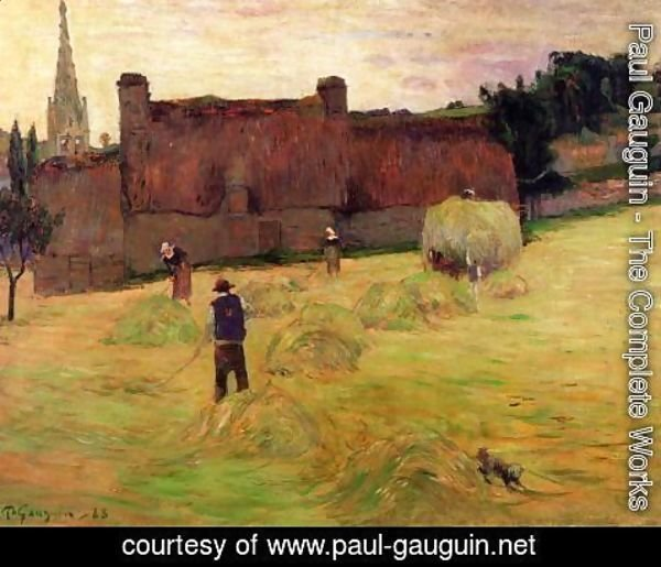 Paul Gauguin - Haymaking
