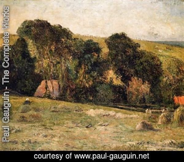 Paul Gauguin - Haymaking Near Dieppe