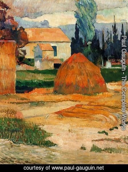 Paul Gauguin - Haystack  Near Arles