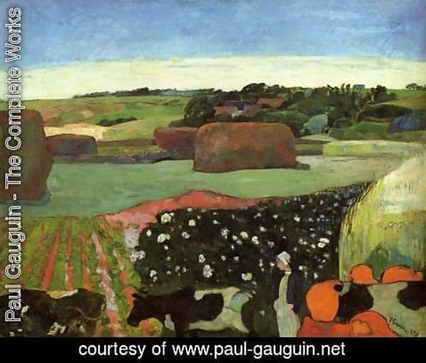 Paul Gauguin - Haystacks In Britanny Aka The Potato Field