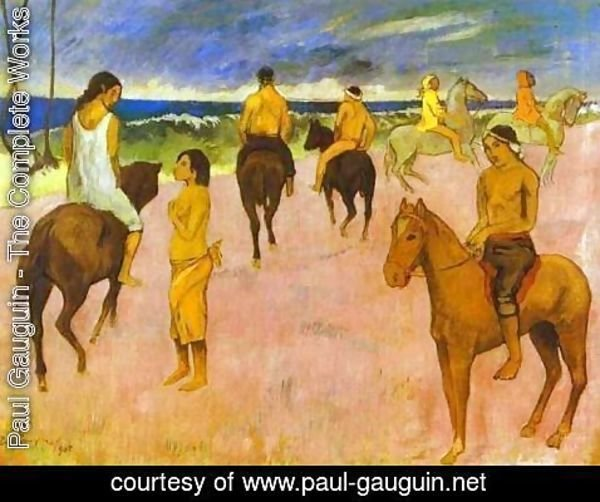 Paul Gauguin - Horsemen On The Beach