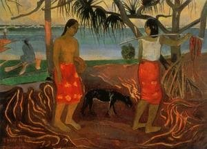 Paul Gauguin - I Rara Te Oviri Aka Beneath The Pandanus Tree
