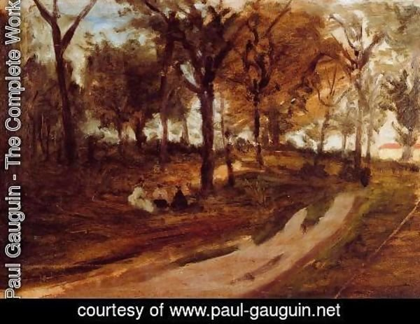 Paul Gauguin - In The Forest  Saint Cloud (sketch)