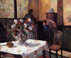 Paul Gauguin - Interior Of The Painters House  Rue Carcel