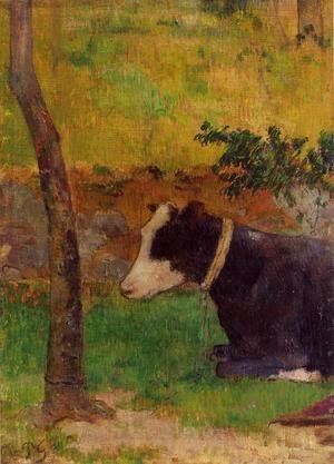Paul Gauguin - Kneeling Cow