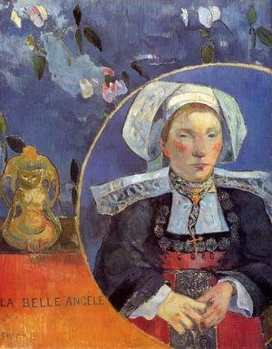 Paul Gauguin - La Belle Angele Aka Madame Angele Satre  The Inkeeper At Pont Aven