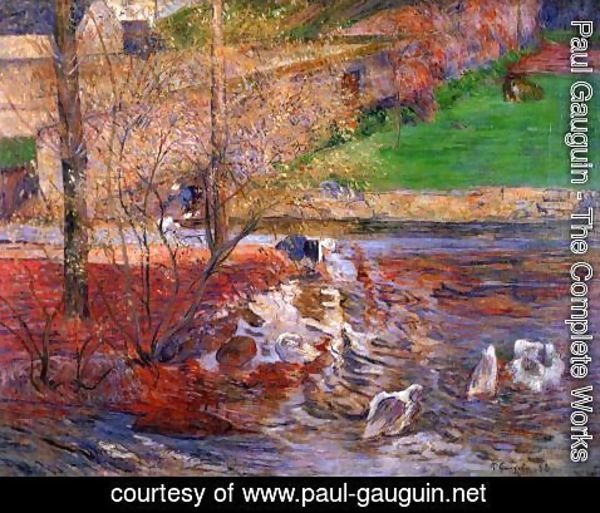 Paul Gauguin - Landscape With Geese