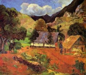 Paul Gauguin - Landscape With Three Figures
