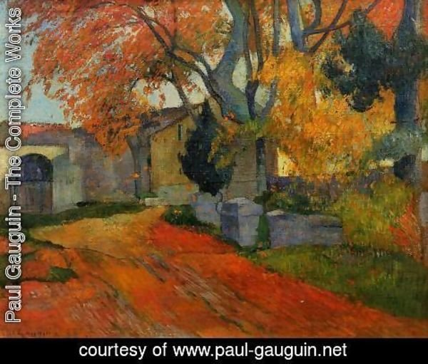 Paul Gauguin - Lane At Alchamps  Arles