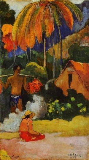 Paul Gauguin - Mahana Maa  II Aka The Moment Of Truth  II