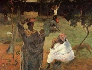 Paul Gauguin - Mango Pickers  Martinique