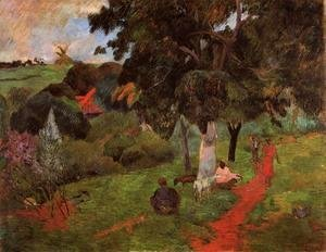 Paul Gauguin - Martinique Landscape Aka Comings And Goings
