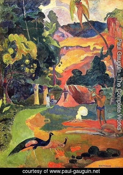 Paul Gauguin - Matamoe Aka Landscape With Peacocks